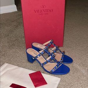 Valentino rockstud sandal in leather 7.5
